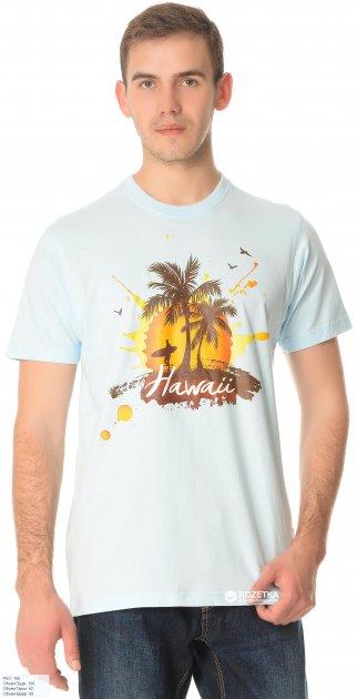 Футболка James Harvest American Hawaii 2134011510/3 L Голубая - изображение 1