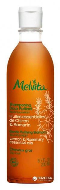 Ніжний очищающий шампунь Melvita Лимон і Розмарин 200 мл (3284410031053) - зображення 1