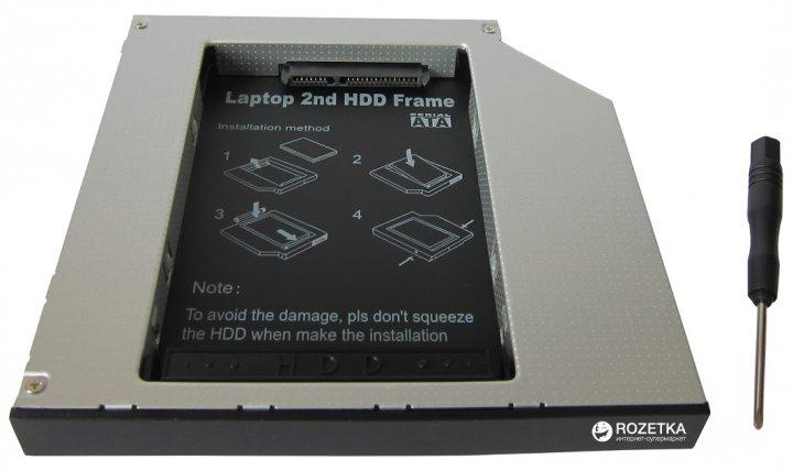 """Адаптер Maiwo для подключения 2.5"""" HDD/SSD SATA в отсек привода ноутбука IDE 12.7 мм (NSTOR-12-IDE) - изображение 1"""