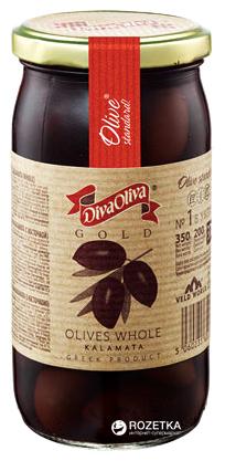 Оливки Каламата с косточкой Diva Oliva Gold 370 мл (5060235651311) - изображение 1