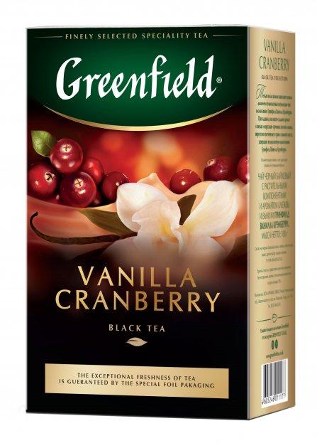 Чай рассыпной Greenfield Vanilla Cranberry 100 г (4823096802381) - изображение 1