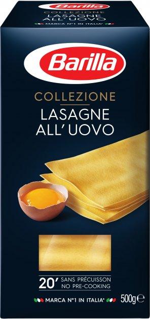Макароны Barilla Lasagne Uovo лазанья 500 г (8076800376999) - изображение 1