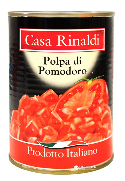 Помидоры очищенные Casa Rinaldi кусочками в собственном соку 400 г (8006165388375) - изображение 1