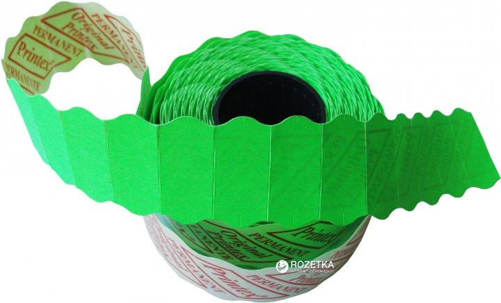 Этикет лента Printex 26х12 мм 1000 этикеток фигурная 36 шт Green (10291)