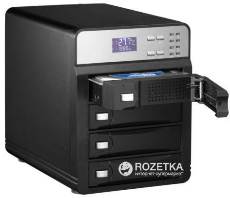 """Зовнішня кишеня Agestar для HDD 3.5"""" USB3.0/4xeSATA (3C4B3A1 (Black)) - зображення 1"""