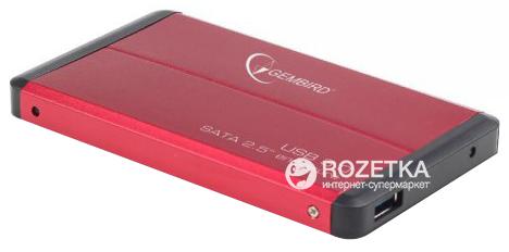 """Зовнішній карман Gembird для HDD 2.5"""" USB 3.0 (EE2-U3S-2-R) - зображення 1"""