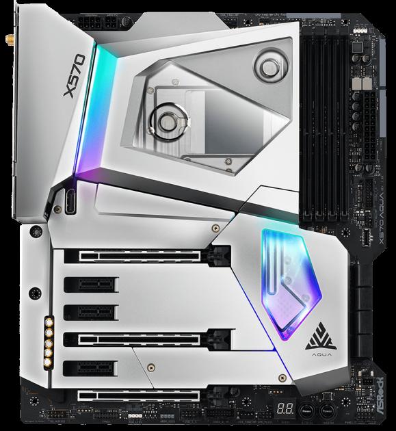 Материнская плата ASRock X570 AQUA (sAM4, AMD X570, PCI-Ex16) - изображение 1