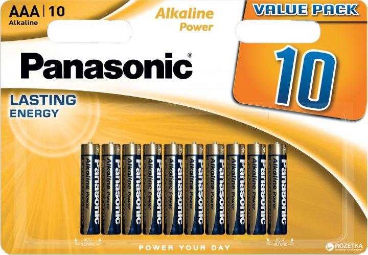 Батарейки Panasonic Alkaline Power щелочные AAA блистер, 10 шт (LR03REB/10BW) - изображение 1