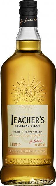 Виски Teacher's Highland Cream 4 года выдержки 1 л 40% (5010093210007) - изображение 1