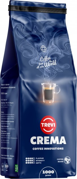 Кава в зернах Trevi Crema 1 кг (4820140050163) - зображення 1