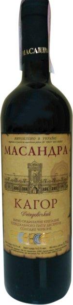 Вино Масандра Кагор Дніпровський червоне десертне 0.75 л 16% (4820013376406_4820013375386) - зображення 1