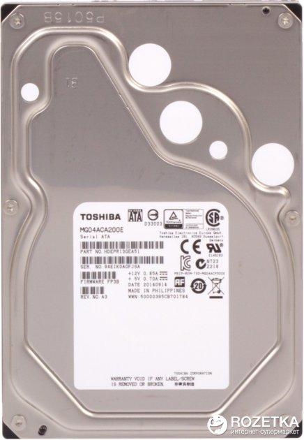 Жорсткий диск Toshiba 2TB 7200rpm 128MB MG04ACA200E 3.5 SATA III - зображення 1