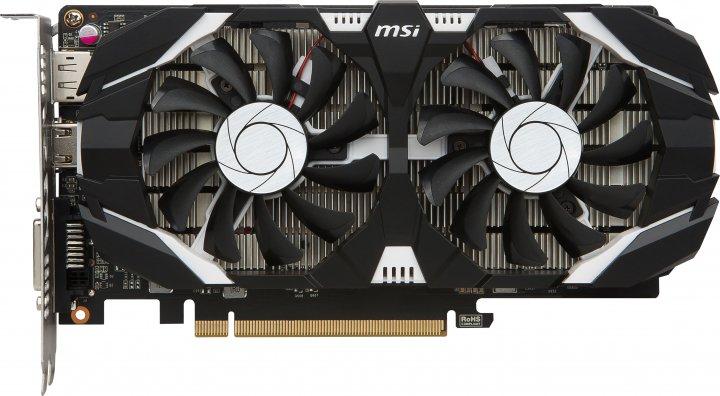 MSI PCI-Ex GeForce GTX 1050 Ti 4GT OC 4GB GDDR5 (128bit) (1341/7008) (DVI, HDMI, DisplayPort) (GTX 1050 TI 4GT OC) - изображение 1