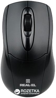 Миша Real-El RM-207 USB Black - зображення 1