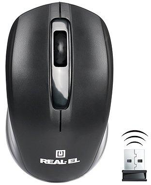 Миша Real-El RM-304 Wireless Black - зображення 1