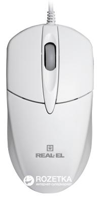 Миша Real-El RM-211 USB White - зображення 1