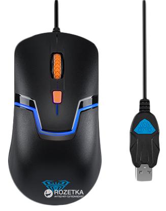 Миша Aula Rigel USB Black (6948391211633) - зображення 1