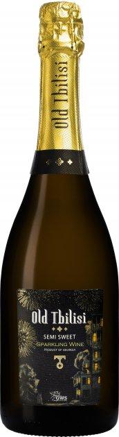 Вино игристое Старый Тбилиси белое полусладкое 12.5% 0.75 л (4860004073228) - изображение 1