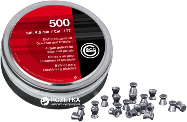 Свинцеві кулі Dynamit Nobel Basic GECO Diabolo 4.5 мм 500 шт. (2137453) - зображення 1