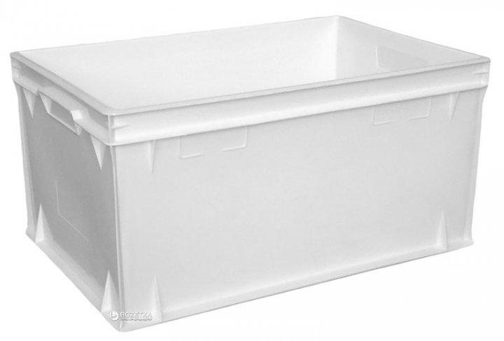 Пластиковый контейнер для продуктов Полимерцентр 600х400х300 мм Белый (ST6430-1.0.1)