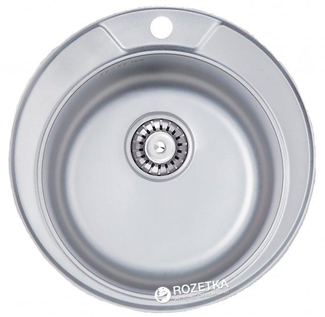 Кухонна мийка ULA 7104 ZS Satin + сифон ULA - зображення 1
