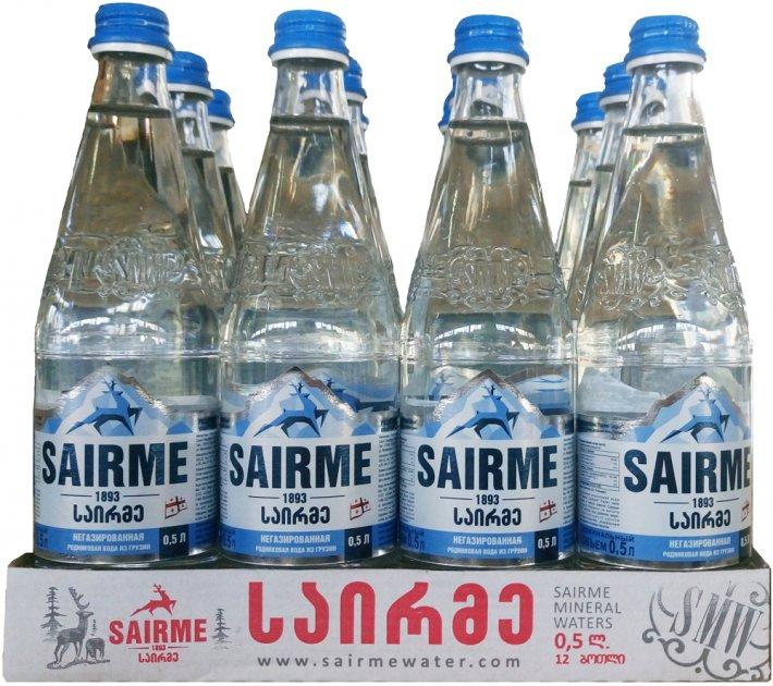 Упаковка родниковой негазированной воды Sairme 0.5 л х 12 бутылок (4860001590131) - изображение 1