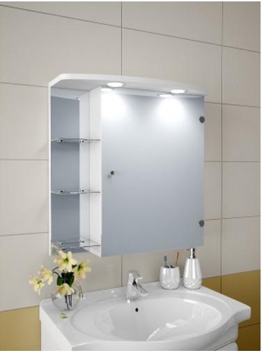 Шкаф зеркальный Garnitur.plus в ванную с LED подсветкой 5S - изображение 1