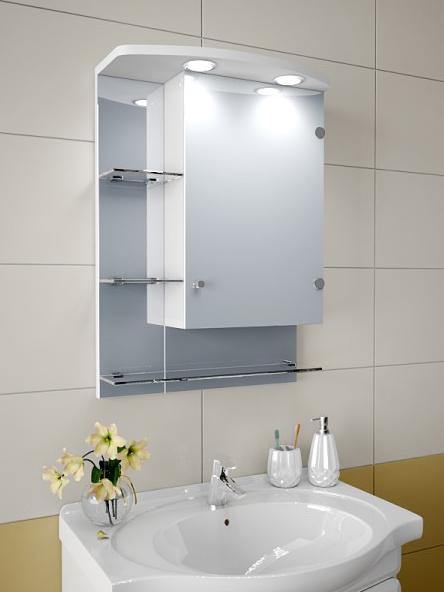 Шкаф зеркальный Garnitur.plus в ванную с LED подсветкой 7S - изображение 1