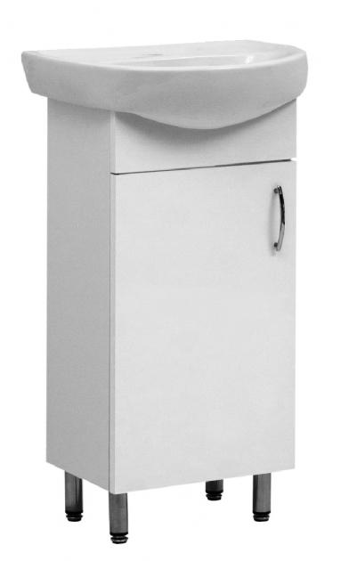 Тумба ЮВВИС Стандарт с умывальником Аква 45 см однодверная - изображение 1