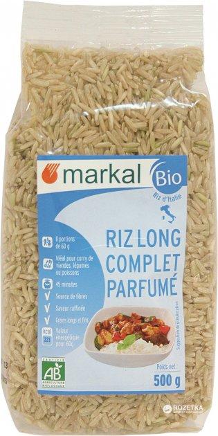 Рис Markal длиннозерный неочищенный ароматный органический 500 г (3329485461203) - изображение 1