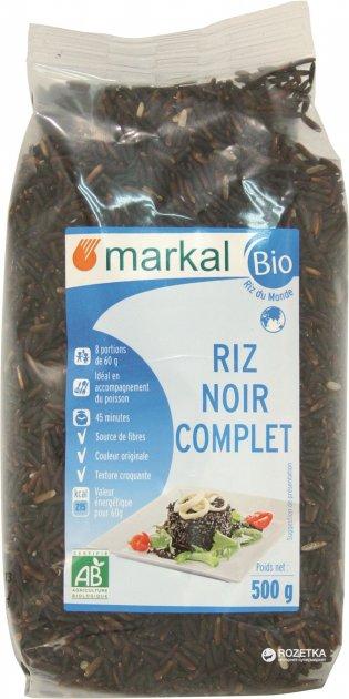 Рис Markal длиннозерный черный тайский органический 500 г (3329485551201) - изображение 1