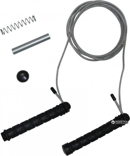Сталева скакалка з додатковими вантажами Tunturi Steel Skipping Rope with Extra Weights Black-Grey (14TUSFU177) - зображення 1