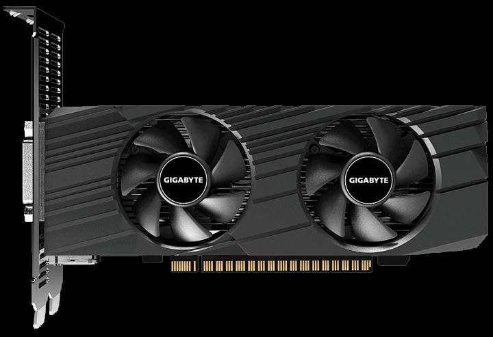 Gigabyte PCI-Ex GeForce GTX 1650 OC Low Profile 4G 4GB GDDR5 (128bit) (1695/8002) (HDMI, DisplayPort, DVI) (GV-N1650OC-4GL) - зображення 1