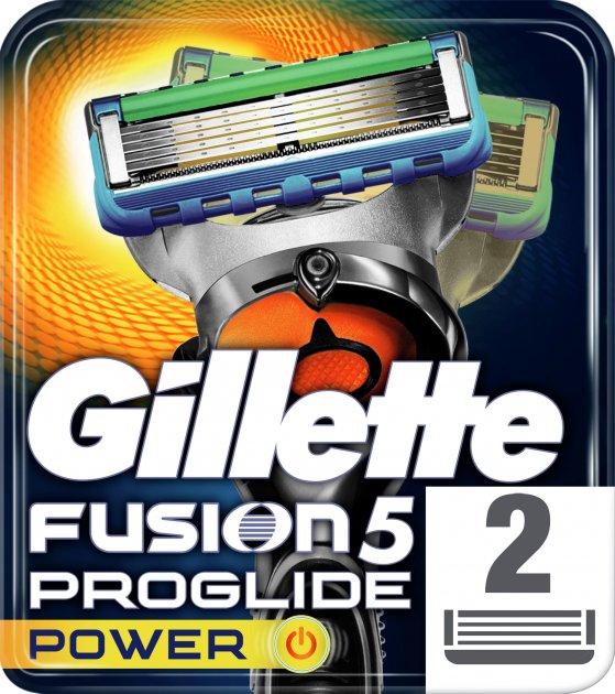 Сменные картриджи для бритья (лезвия) мужские Gillette Fusion5 ProGlide Power 2 шт (7702018085927)