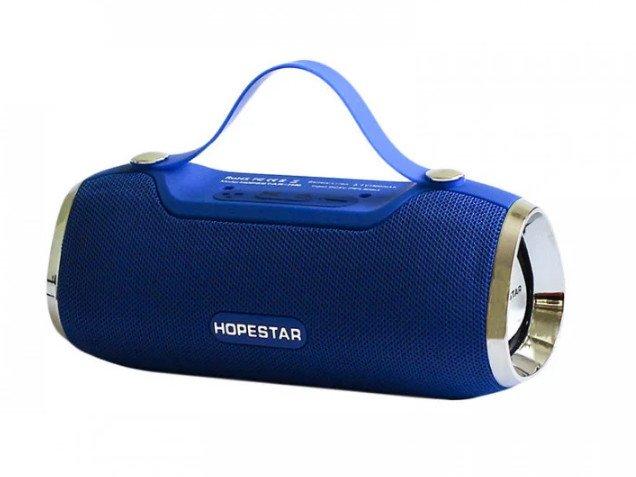 Портативная Bluetooth колонка Hopestar H40, синяя - изображение 1