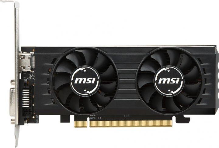 MSI PCI-Ex Radeon RX 550 2GT LP OC 2GB GDDR5 (128bit) (1203/6000) (DVI, HDMI) (RX 550 2GT LP OC) - изображение 1