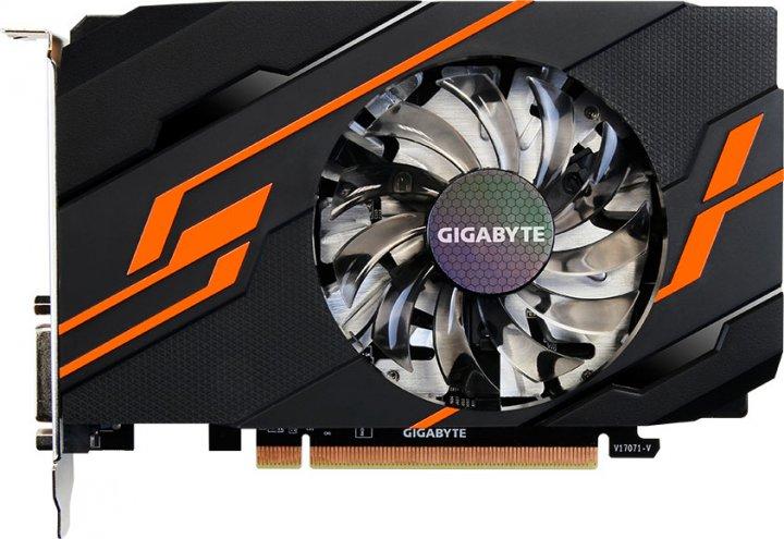 Gigabyte PCI-Ex GeForce GT 1030 OC 2GB GDDR5 (64bit) (1265/6008) (DVI, HDMI) (GV-N1030OC-2GI) - зображення 1