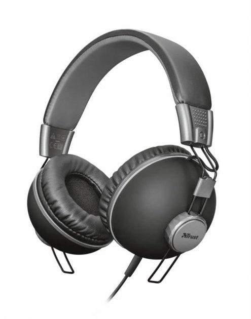 Гарнитура Trust Noma Over-Ear Matte Black (22578) - изображение 1