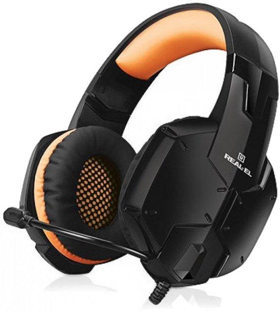 Навушники Real-El GDX-7700 Surround 7.1 Black-orange (EL124100016) - зображення 1
