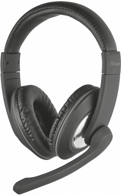 Наушники Trust Reno Headset Black (TR21662) - изображение 1