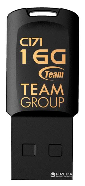 Team C171 USB 2.0 16GB Black (TC17116GB01) - зображення 1