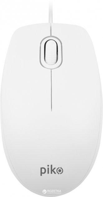 Миша Piko MS-009 USB White (1283126467141) - зображення 1