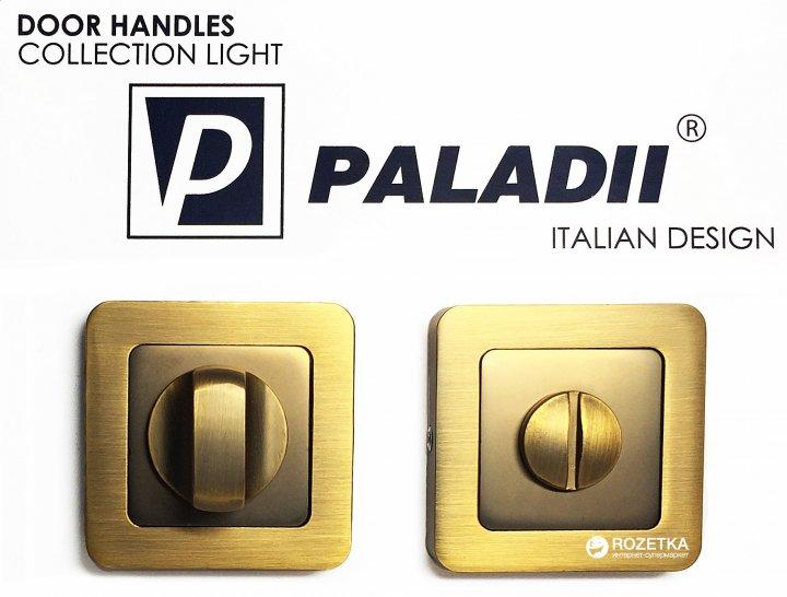 Накладка с поворотником Paladii WC дверная квадратная кофейная (ПР124)