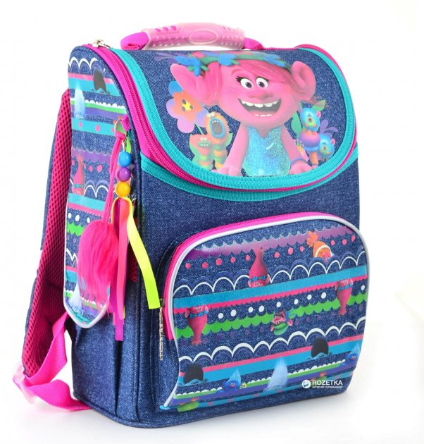 Рюкзак каркасный 1 Вересня H-11 Trolls 34x26x14 см Разноцветный (553405) - изображение 1