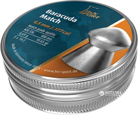 Свинцеві кулі H&N Baracuda Match 4.5 мм 0.69 г 400 шт. (92284520004) - зображення 1