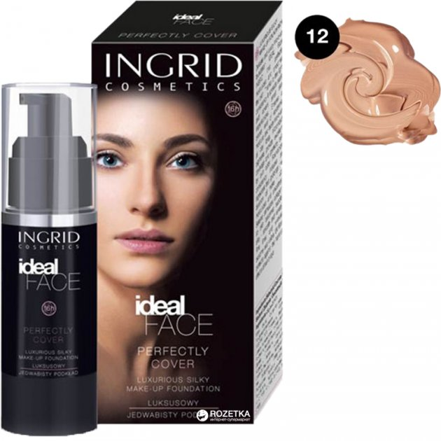 Тональный крем Ingrid Ideal Face № 012 35 мл (5901468921461) - изображение 1