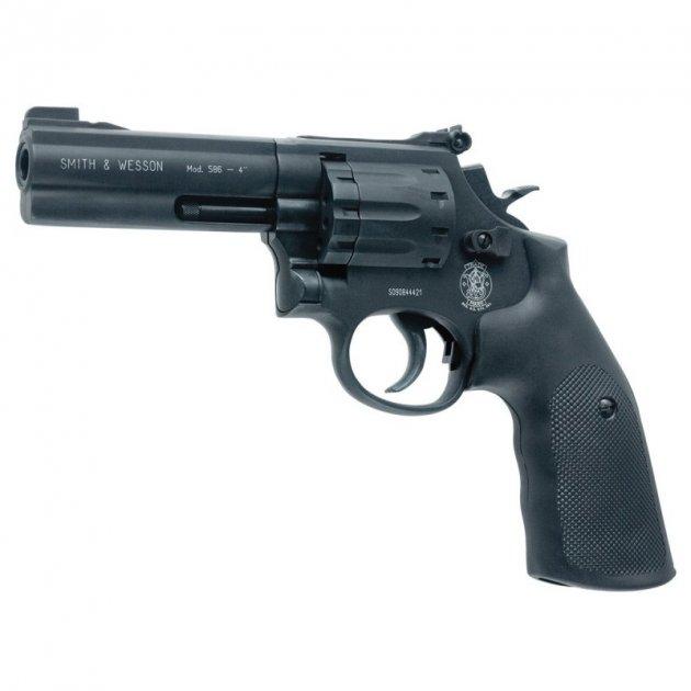 Револьвер під патрон Флобера Alfa mod.441 ворон/пластик. 14310045 - зображення 1