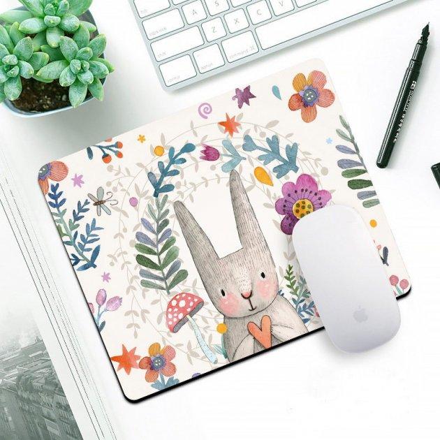 """Килимок для миші """"Кролик з сердечком"""" - зображення 1"""