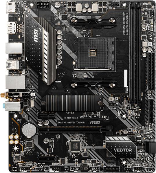 Материнська плата MSI MAG A520M Vector Wi-Fi (sAM4, AMD A520, PCI-Ex16) - зображення 1