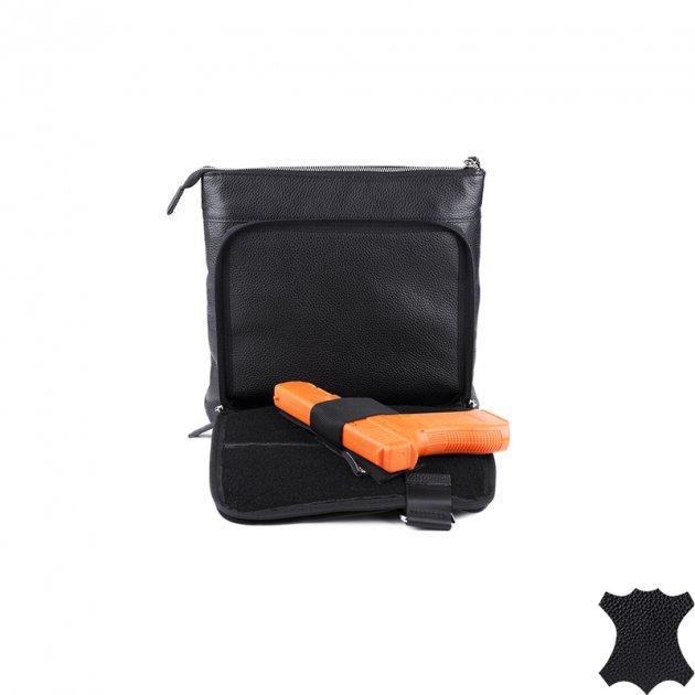 Шкіряна міська тактична сумка DANAPER GALLANT, Чорний 1427099 Чорний - зображення 1